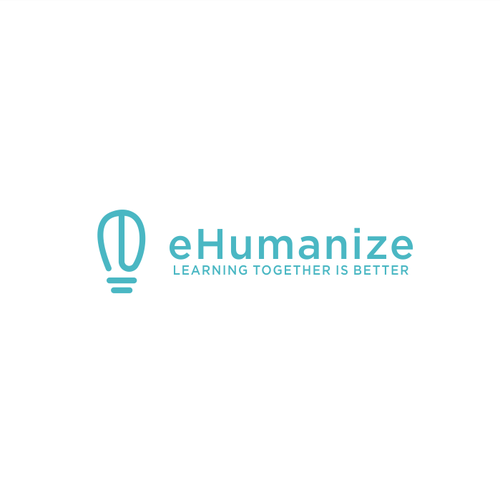 E-learning logo with the title 'eHumanize Logo Design'