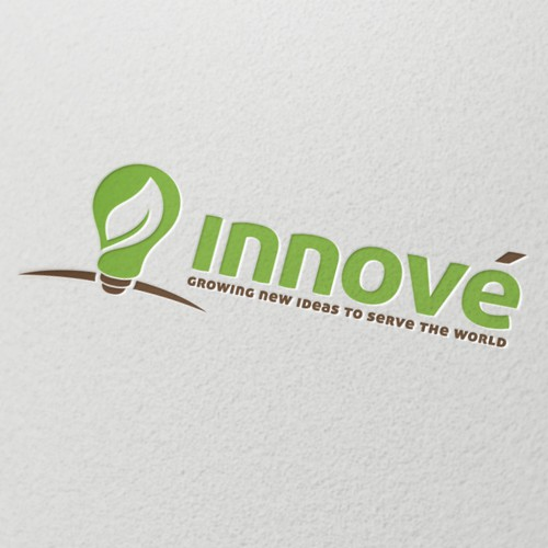 Bulb design with the title 'Innove logo design - Innovate you world!'