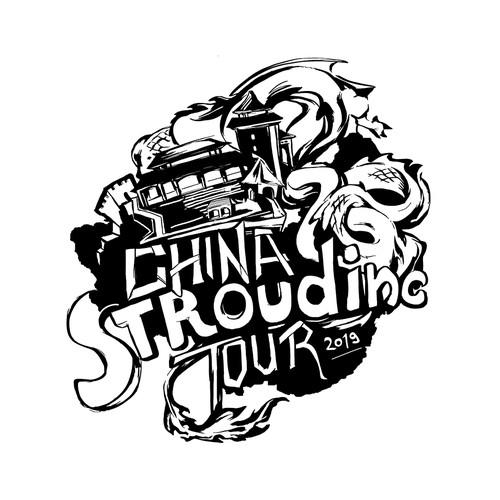 Tour design with the title 'China Tour Logo'