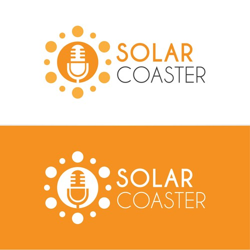 Solar brand with the title 'Solar Coaster Logo design'