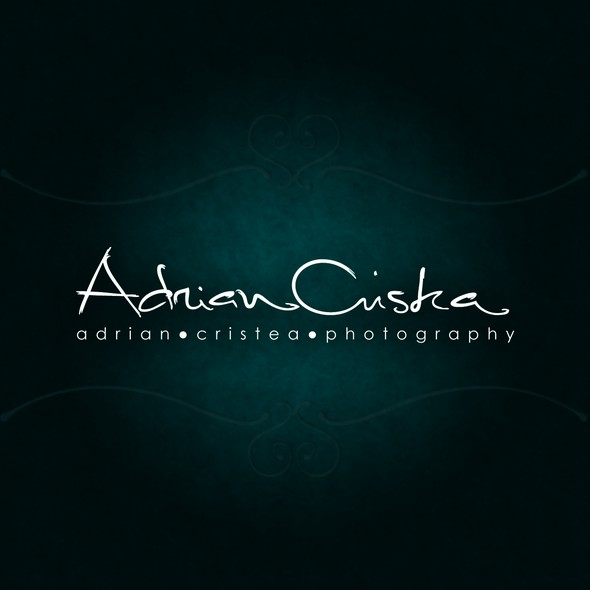 Special logo with the title 'Custom-made Signature for photographer'