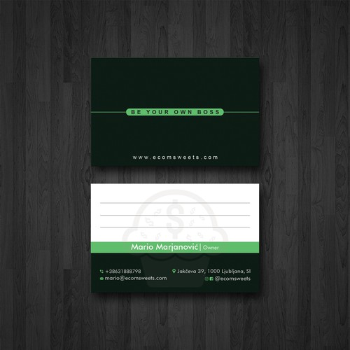 Gift card design with the title 'Business Card Design'