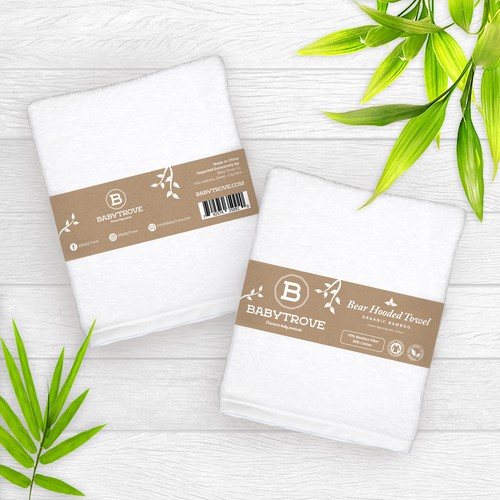 Bamboo design with the title 'Minimalist Label design for Baby Trove Premium Baby Product.'