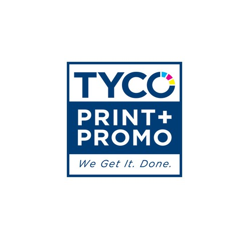 CMYK logo with the title 'Redesign Logo for TYCO'