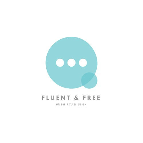 Transparency logo with the title 'Fluent & Free Logo Concept'
