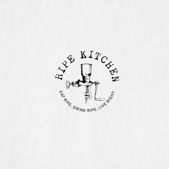 Grinder design with the title 'Logo for new Organic and Healthy Restaurant and Cafe'