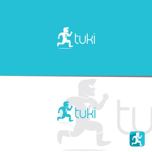 Hero logo with the title 'logo for tuki'