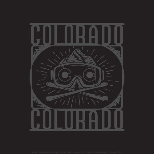 Skiing design with the title 'Colorado Extreme'
