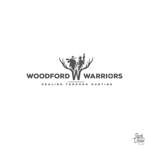 Veteran logo with the title 'Woodford Warriors'