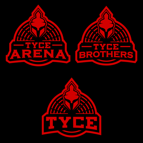 Arena logo with the title 'Bold logo for TYCE BROS.'