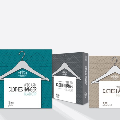 Hanger design with the title 'clothes hanger pacage'