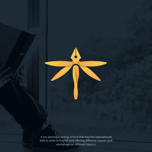 Dragonfly design with the title 'Logo concept for school'