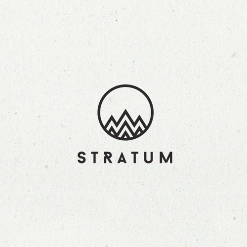 Mountain design with the title 'Stratum logo'