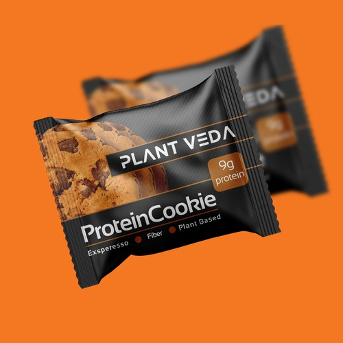 Cake packaging with the title 'protein cookie'