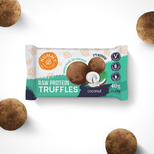 Cookie packaging with the title 'package and Logo design'