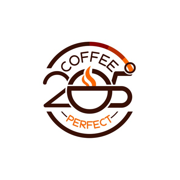 Temperature logo with the title 'Abstract badge for a Coffe Brand'