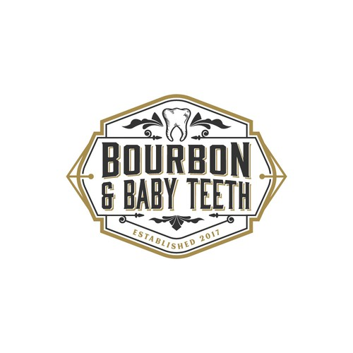 Tooth logo with the title 'Bourbon & Baby teeth'