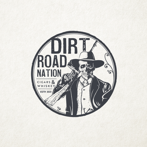 Gangster logo with the title 'Dirt Road Nation'