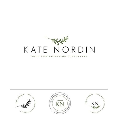 Nutrition logo with the title 'Logo Design for Kate Nordin'
