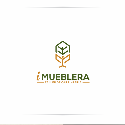 Carpentry logo with the title 'logo mueblera'