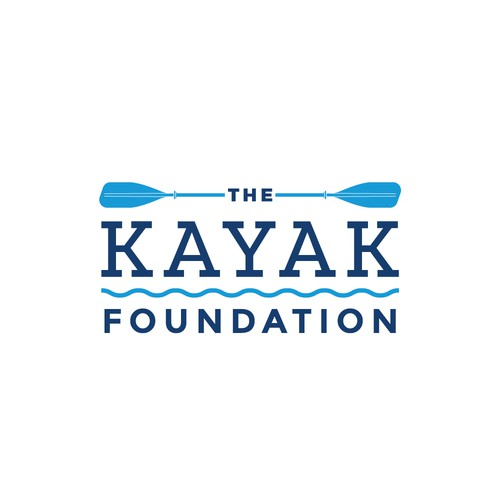 Kayak design with the title 'Outdoors Logo'