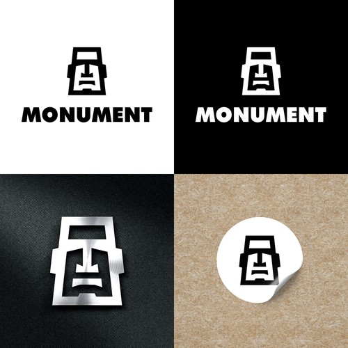 Street design with the title 'Logo Design for Monument'