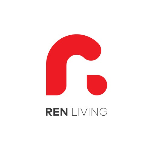 R brand with the title 'R logo for Ren Living'