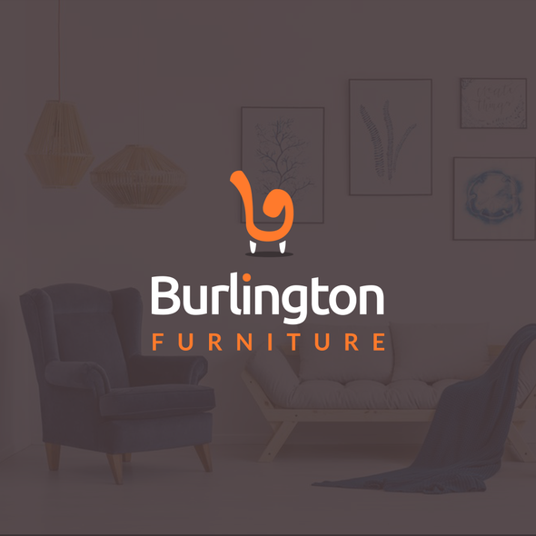 B logo with the title 'Furniture logo design'