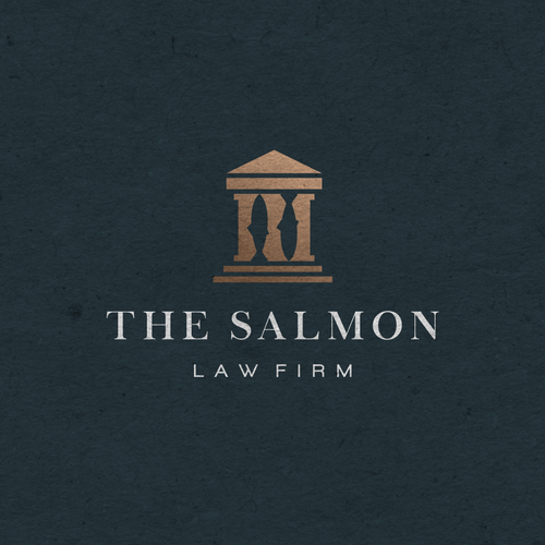 Salmon design with the title 'The Salmon Law Firm'