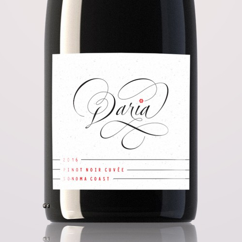 Noir design with the title 'Smooth Silky Wine Label'