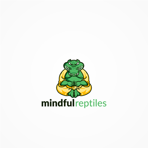 Vector logo with the title 'Logo concept for Mindful Reptiles'