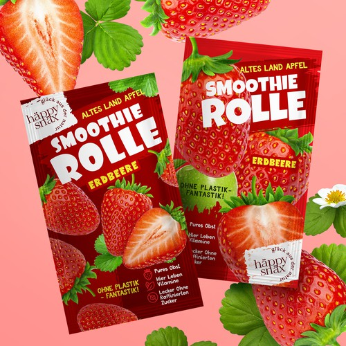 Colorful packaging with the title 'Vibrant Snack Pouch Design'