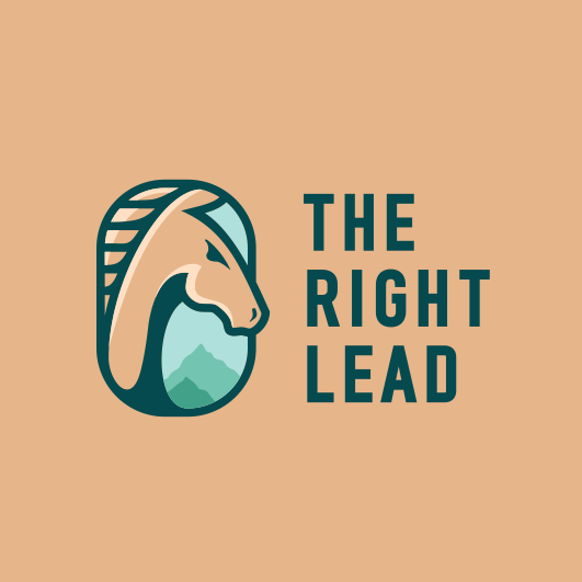 Brand logo with the title 'THE RIGHT LEAD'