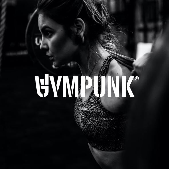Gym design with the title 'Bold wordmark for GYMPUNK.'