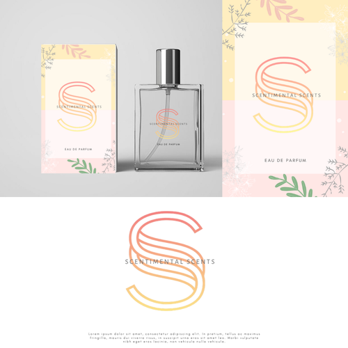 Flora logo with the title 'Bold logo for a perfume brand'