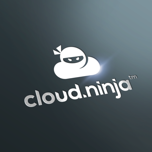 Ninja design with the title 'cloud.ninja -  Logo needed for 3d rendering and cloud collaboration site.'