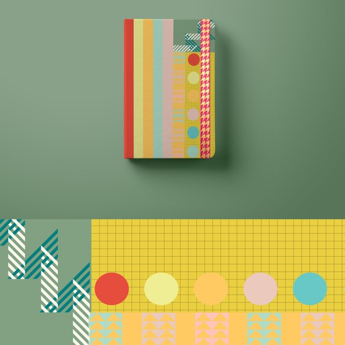 Modern artwork with the title 'notepad colourful pattern design '