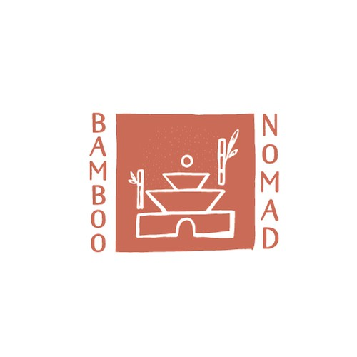 Yoga design with the title 'Nomad temple'