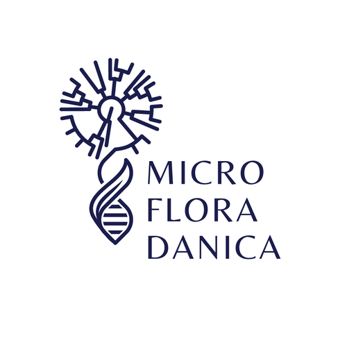 DNA logo with the title 'Micro Flora Danica Logo'