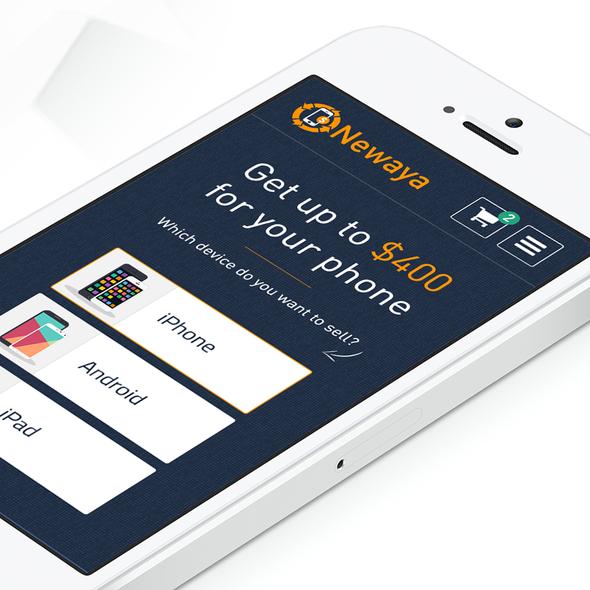 Orange website with the title 'Mobile Design for Newaya'