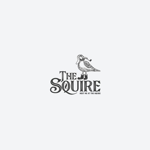 Seagull design with the title 'The Squire'