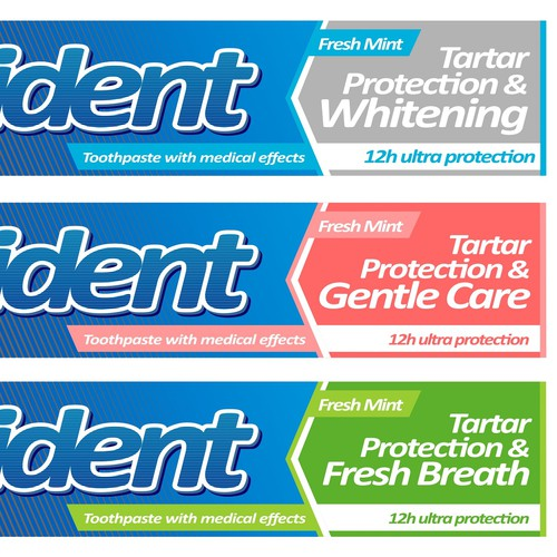Toothpaste design with the title 'toothpaste package'