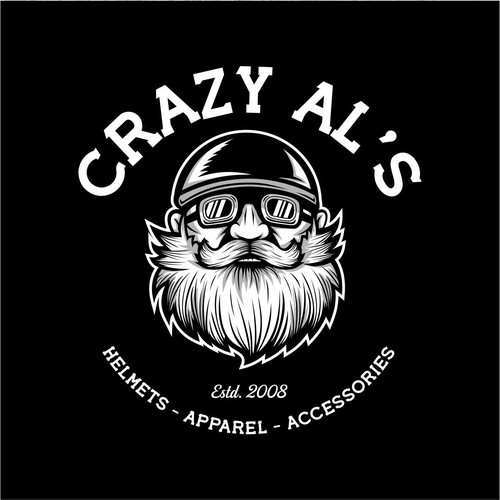 Harley Davidson design with the title 'Concept Design for Crazy Al's'