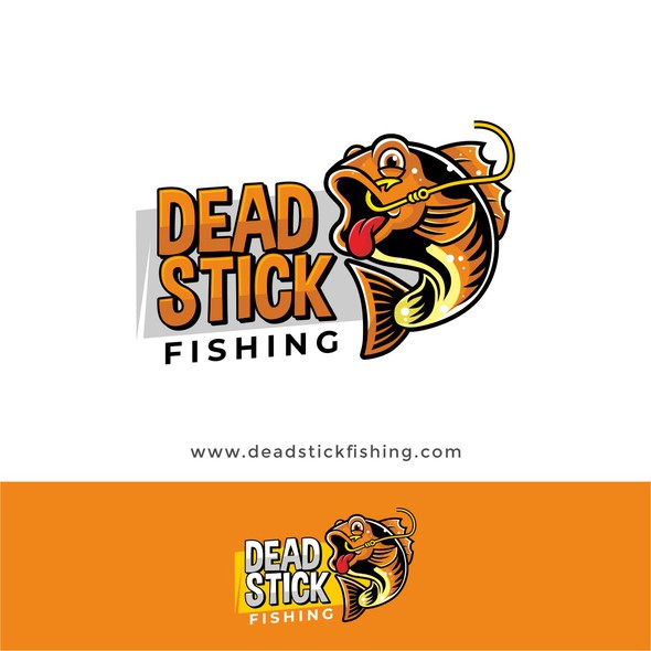 Fishing hook design with the title 'Logo for dead stick fishing'