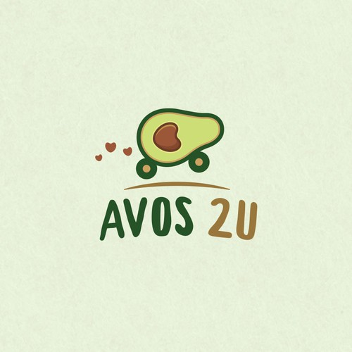 Brown and purple logo with the title 'Logo for AVOS 2U'