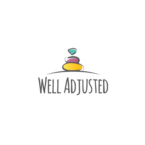 Stone design with the title 'Well Adjusted logo'