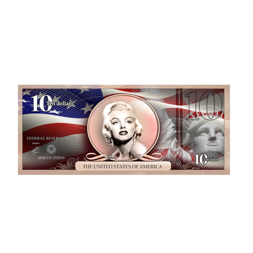 Ten design with the title 'Community Contest | Design the new $10 bill featuring a woman! '