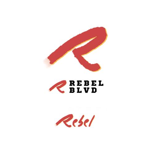 Bin logo with the title 'Logo Rebel BLVD'