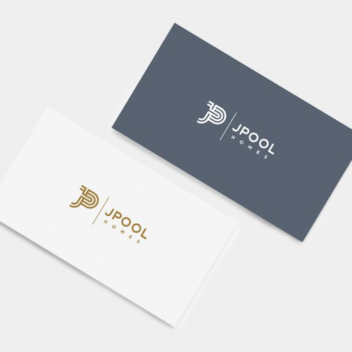 Purple and gray design with the title 'JPOOL Homes Logo'