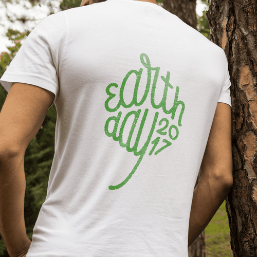 Lettering t-shirt with the title 'Earth Day T-shirt'